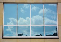 Glass facade of modern office building Stock Photo