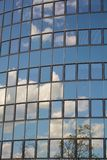 Glass facade of modern office building Stock Images