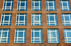Glass facade of modern office building Royalty Free Stock Photos