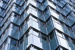 Glass facade of a modern skyscraper Royalty Free Stock Image