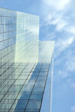 Glass facade of office building Royalty Free Stock Photo
