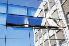 Glass facade of an office building Royalty Free Stock Image