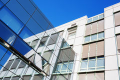 Glass facade of an office building Stock Images