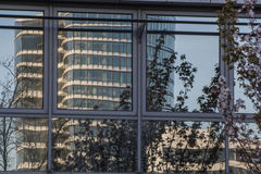 Glass facade of an office building Royalty Free Stock Images
