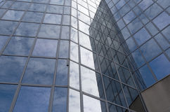 Glass facade of an office building. Royalty Free Stock Photo