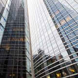 Glass facade of an office tower Stock Image