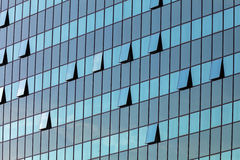Glass facade with opened windows Royalty Free Stock Image