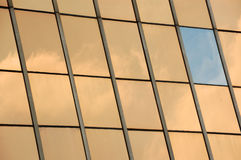 Glass facade panel background Royalty Free Stock Photos