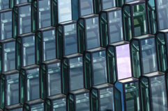 Glass facade pattern. Of Harpa building Royalty Free Stock Photos