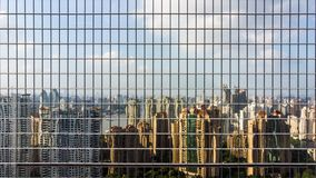 Glass Facade and Reflection Of Skyline of Modern City. royalty free stock image