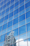 Glass facade with reflection Stock Images