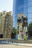 Glass facade reflections Stock Photos