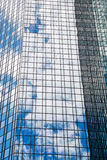 Glass facade with reflections Stock Image