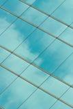 Glass facade of a skyscraper Stock Images