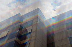 Glass facade spectrum colors Stock Photo