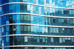 Glass facade of a tall building Royalty Free Stock Image