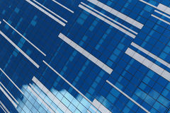 Glass facade of an urban building Royalty Free Stock Images