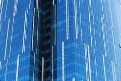 Glass facade of an urban building Stock Images