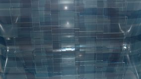 Glass facade. A wall of glass planes of the rectangular form Stock Image