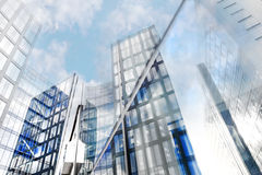 Glass facades of modern office buildings Stock Photography
