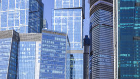The glass facades of skyscrapers Stock Images