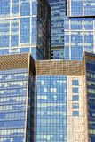 The glass facades of skyscrapers Royalty Free Stock Photo