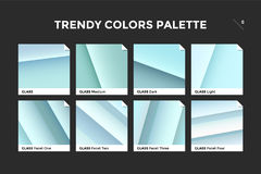 Glass facet gradient template, vector icon Royalty Free Stock Image