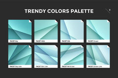 Glass facet gradient template, vector icon vector illustration