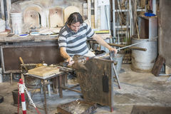 At the glass factory in Murano Stock Images