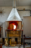 Furnace Glass factory oven Royalty Free Stock Image