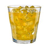 Glass of fanta on white background. With clipping path Stock Image