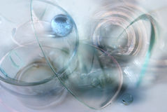 Glass fantasy. Composed from glass dishes and spheres Royalty Free Stock Image