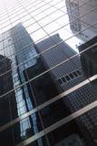 Glass fasad av skyskrapan i New York i stadens centrum manhattan med r Royaltyfria Foton