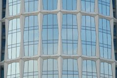 Glass fasade of office building in Moscow. Beautiful, big windows Royalty Free Stock Images