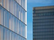 Glass fasader, fasader av exponeringsglas Arkivbild