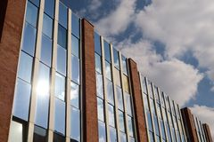 Glass fassade. Business architecture glas fassade fasade sun bureau Royalty Free Stock Images
