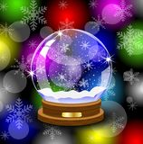 Glass festive ball Stock Photo