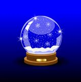 Glass festive ball Royalty Free Stock Images