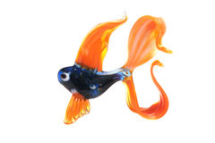 Glass figure of fish. Royalty Free Stock Images