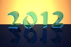 Glass figures 2012 Stock Image