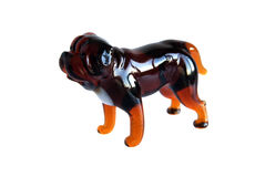 Glass figurine of the dog Royalty Free Stock Photography