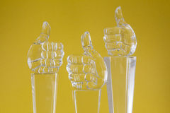 Glass figurine Stock Images