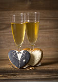 Glass filled with champagne Royalty Free Stock Photos