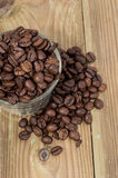 Glass filled with Coffee Beans Stock Photography