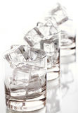 Glass filled with ice cubes Royalty Free Stock Photo
