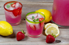 Glass filled with lemonade ready to drink Royalty Free Stock Photography
