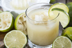 Glass filled with Lime Juice. Glass filled with fresh made Lime Juice Stock Photography
