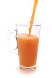 Glass filled orange juice Royalty Free Stock Images