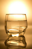 Glass filled with water Royalty Free Stock Photo