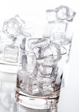 Glass Filled With Ice Cubes Stock Image
